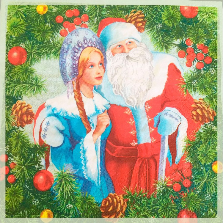 Картинки с дедом морозом снегурочкой елкой
